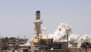 داعش تفجر مسجد عمر بن الخطاب