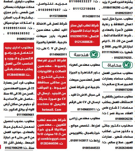 وظائف خالية من جريدة الوسيط عدد الجمعة 22/1/2021 12
