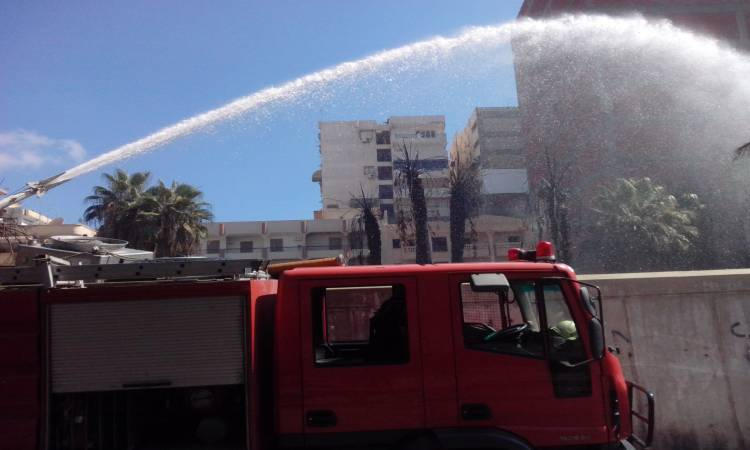 حريق هائل بمعرض سيارات المهندسين والنيابة تكشف ملابسات الحريق