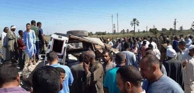 أسماء ضحايا حادث تصادم قطار بسيارة في الأقصر