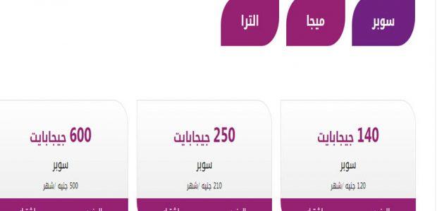 "باقات انترنت المصرية للإتصالات""WE Internet Packages ""WE Space"