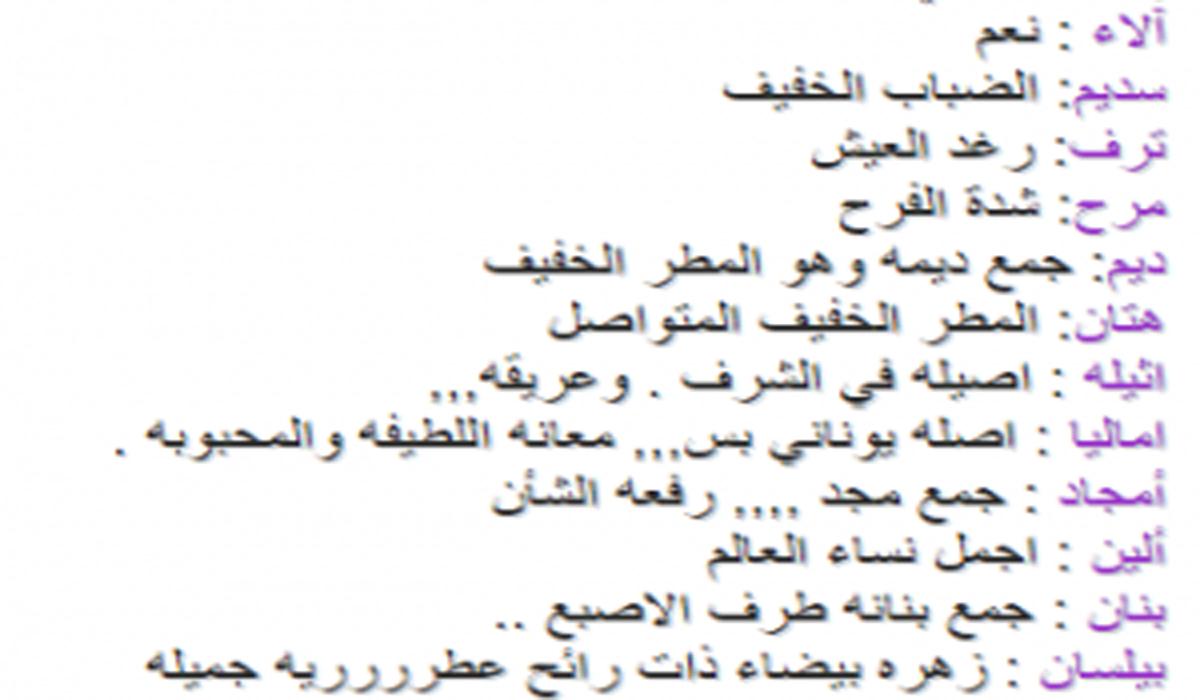 أسماء بنات 2020 ومعانيها أحلى وأجمل 100 اسم بنات جديدة ومميزة
